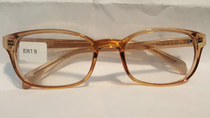 Plastic Lenses Clear (Single Vision) With this Frame -Wo EM18 51-19 Complete