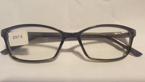 Plastic Lenses Clear (Single Vision) With this Frame -Wo EM16 51-17 Complete