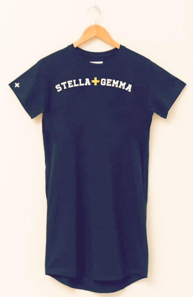 STELLA + GEMMA Varsity Logo Tee Dress