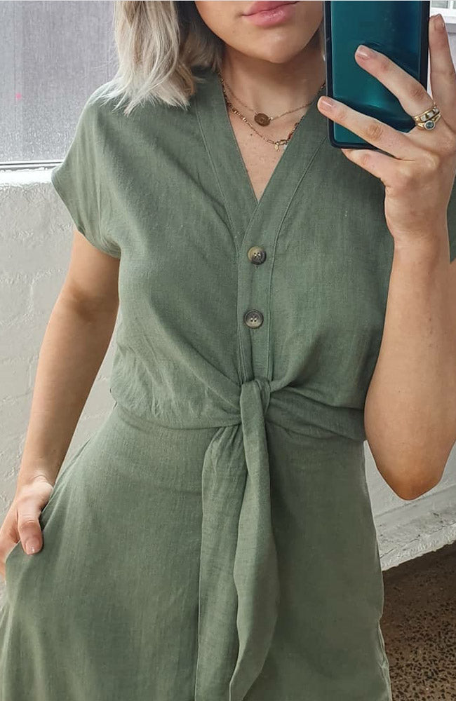 Belinda Dress - Khaki