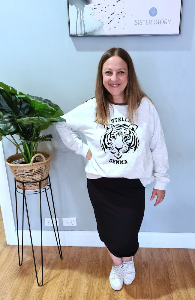 STELLA + GEMMA Tiger Sweater