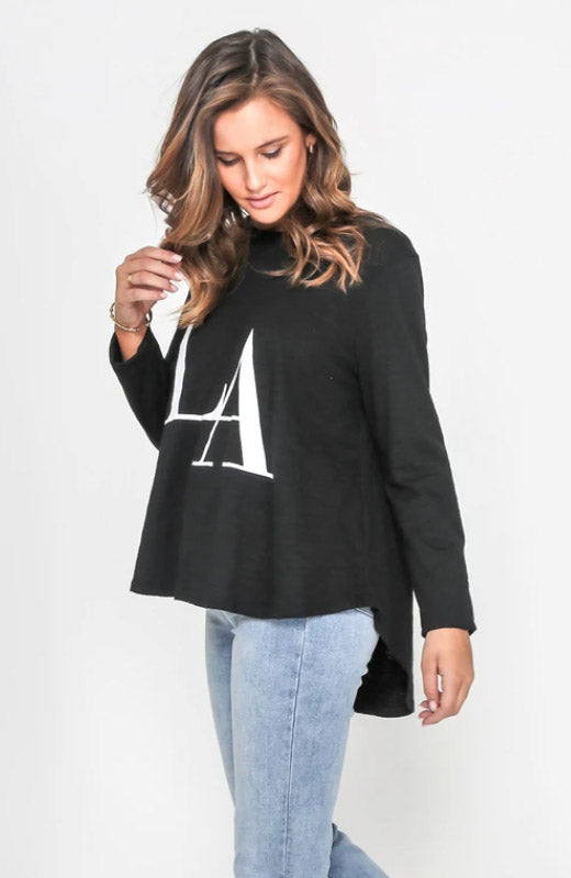 LA Long Sleeve Tee - Black