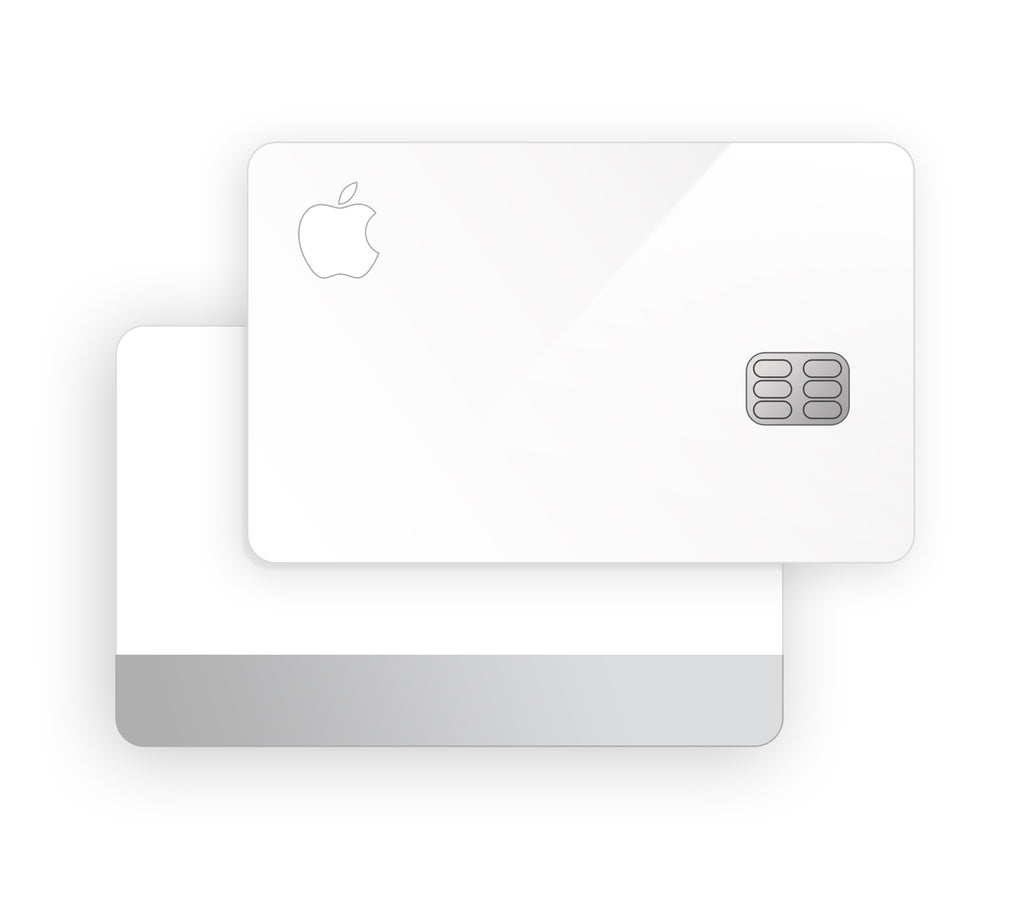 White <br>Apple Card Cover
