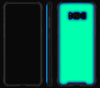 Navy Blue / Neon Green <br>Samsung S8 PLUS - Glow Gel case combo