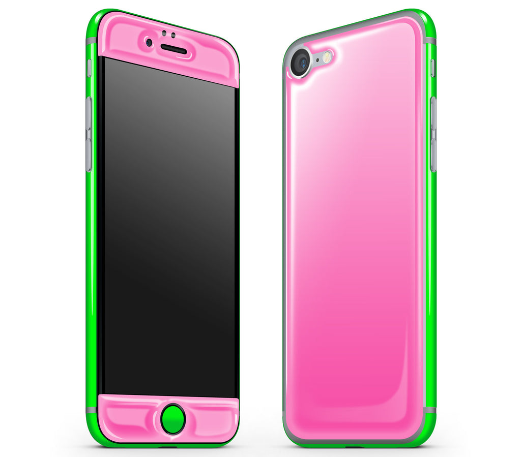 Cotton Candy / Neon Green <br>iPhone 7/8 - Glow Gel Combo