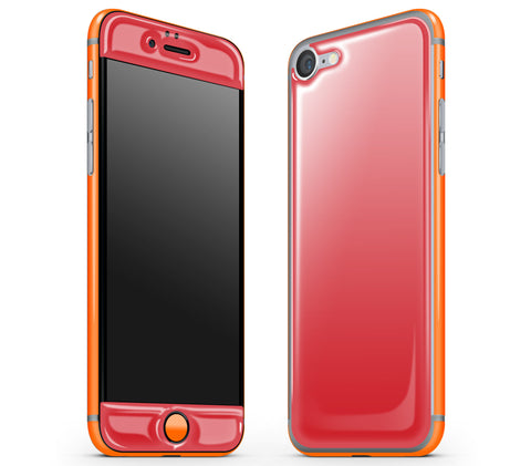 Red / Neon Orange <br>iPhone 7 - Glow Gel Combo