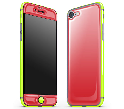 Red / Neon Yellow <br>iPhone 7 - Glow Gel Combo