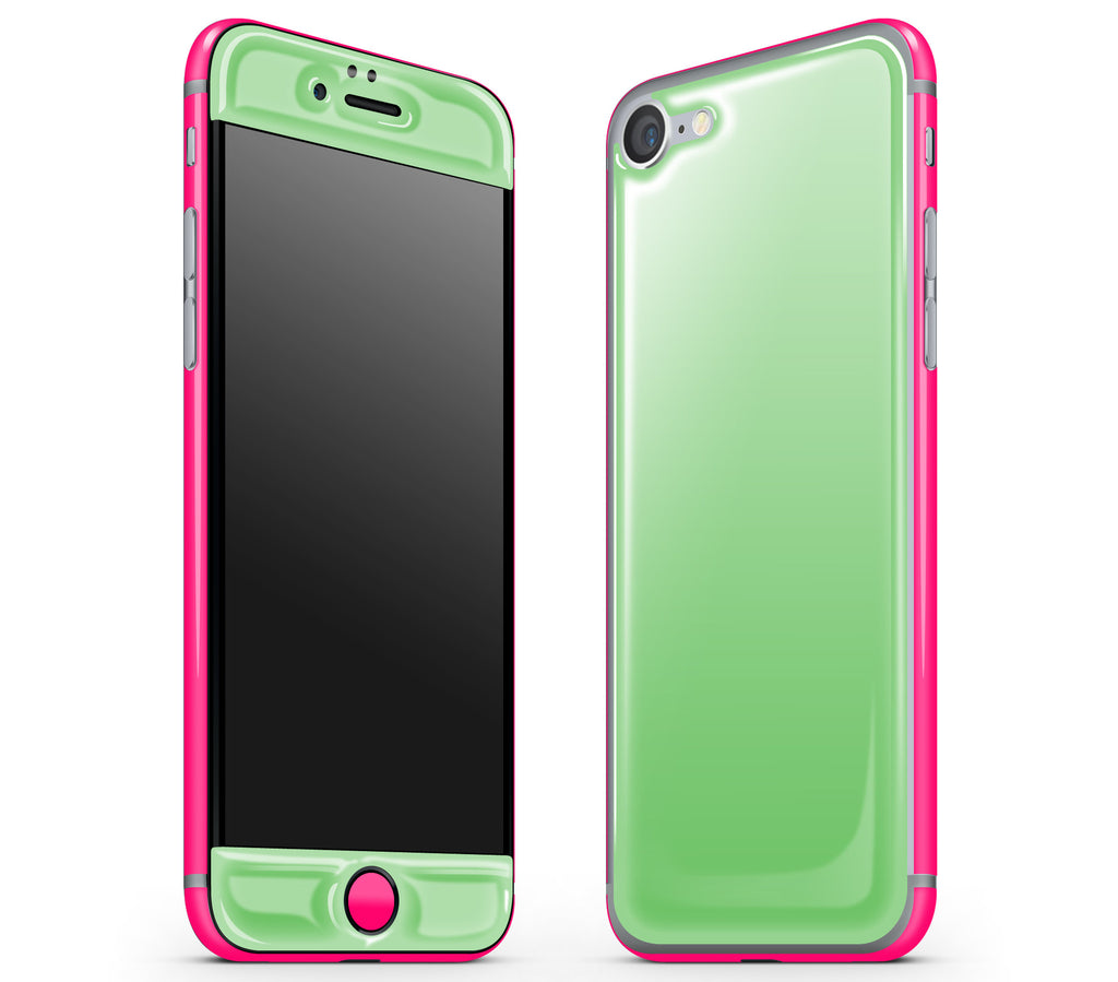 Apple Green / Neon Pink <br>iPhone 7 - Glow Gel Combo