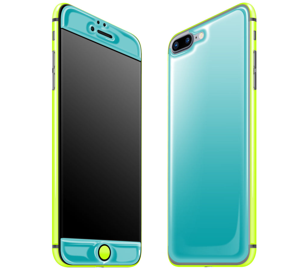 Teal / Neon Yellow <br>iPhone 7/8 PLUS - Glow Gel Combo