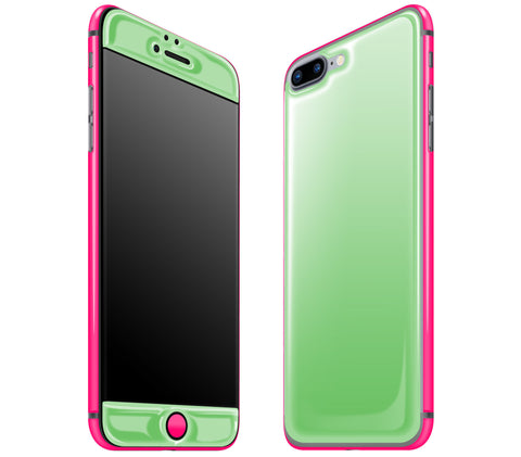 Apple Green / Neon Pink <br>iPhone 7/8 PLUS - Glow Gel Combo