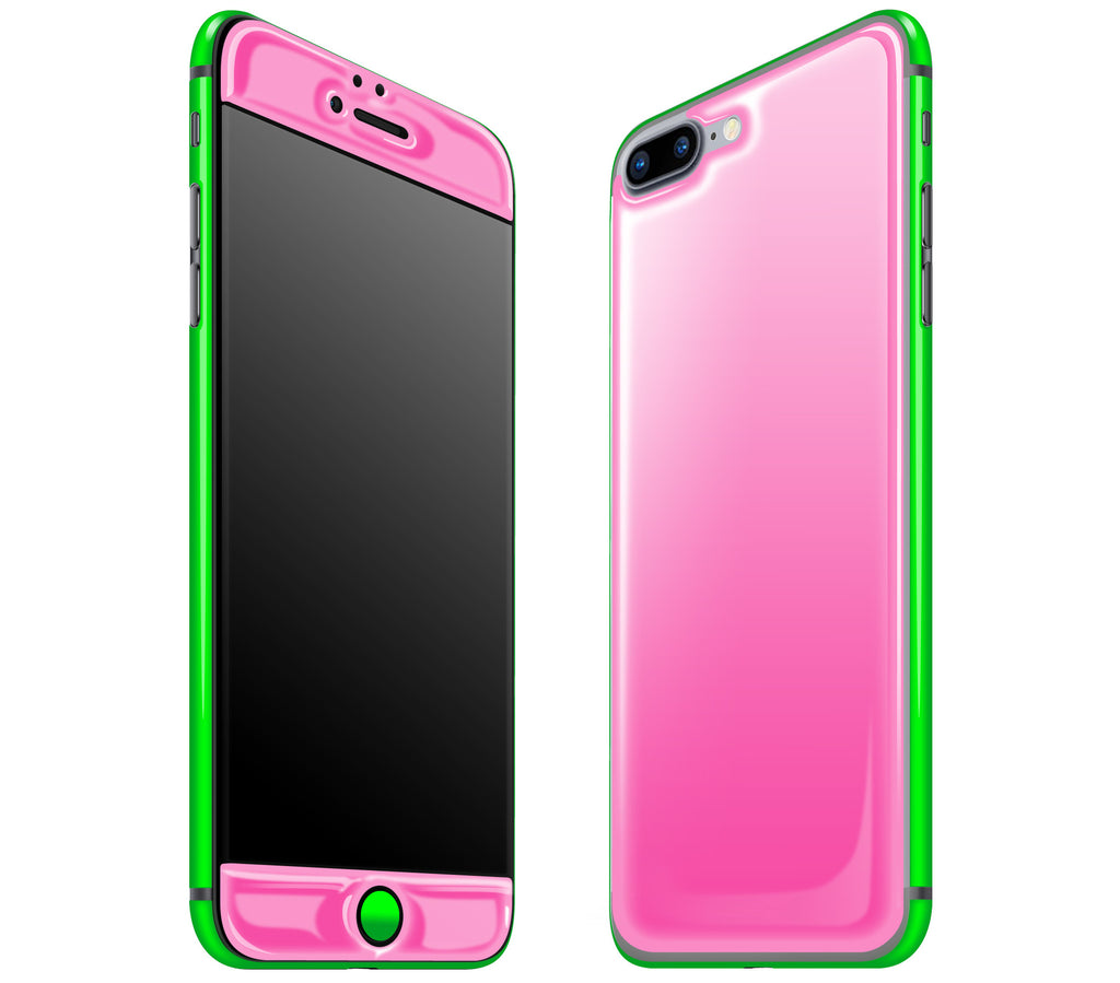 Cotton Candy / Neon Green <br>iPhone 7 PLUS - Glow Gel Combo