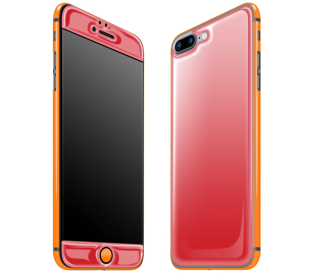Red / Neon Orange <br>iPhone 7/8 PLUS - Glow Gel Combo