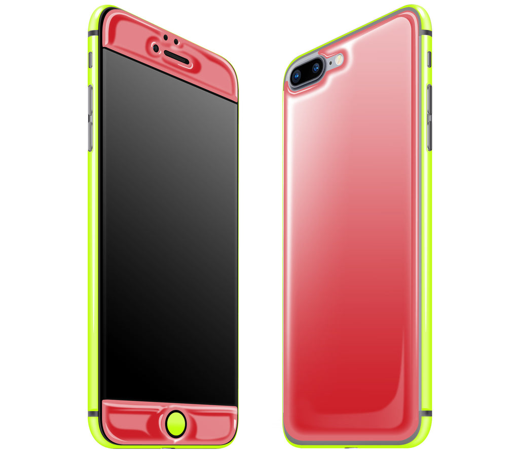 Red / Neon Yellow <br>iPhone 7/8 PLUS - Glow Gel Combo