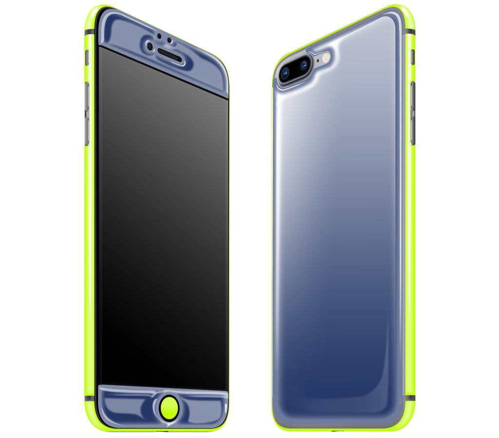 Navy Blue / Neon Yellow <br>iPhone 7/8 PLUS - Glow Gel Combo