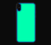 Navy / Neon Green <br>iPhone X - Glow Gel Combo