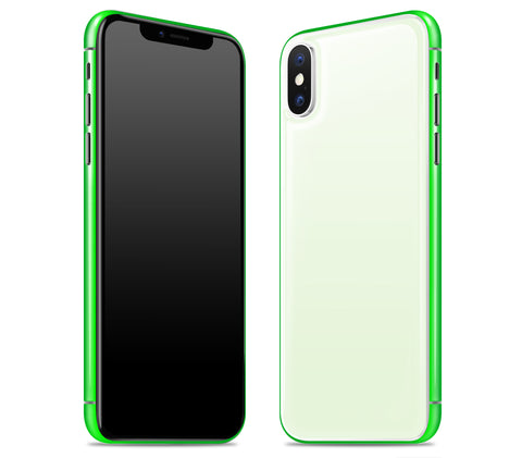 Atomic Ice / Neon Green <br>iPhone X - Glow Gel Combo
