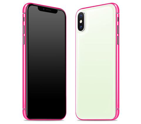 Atomic Ice / Neon Pink <br>iPhone X - Glow Gel Combo