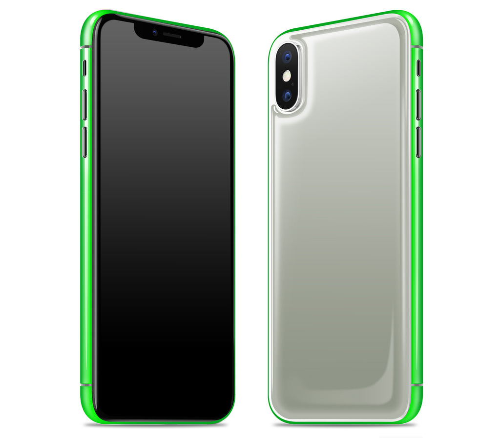 Steel Ash / Neon Green <br>iPhone X - Glow Gel Combo