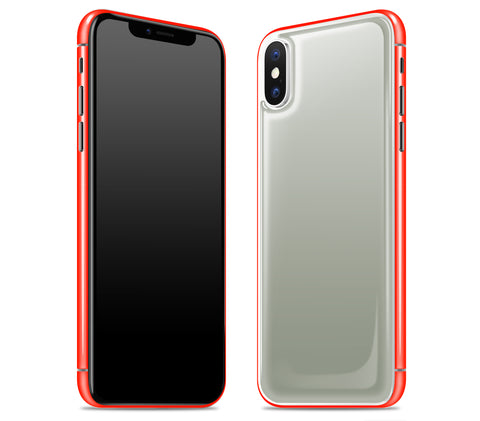 Steel Ash / Neon Red <br>iPhone X - Glow Gel Combo