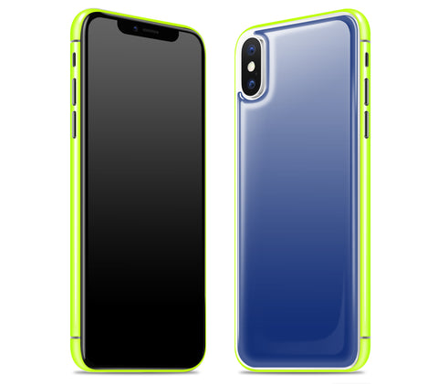 Navy / Neon Yellow <br>iPhone X - Glow Gel Combo