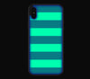 Nautical Striped / Neon Red <br>iPhone X - Glow Gel Combo