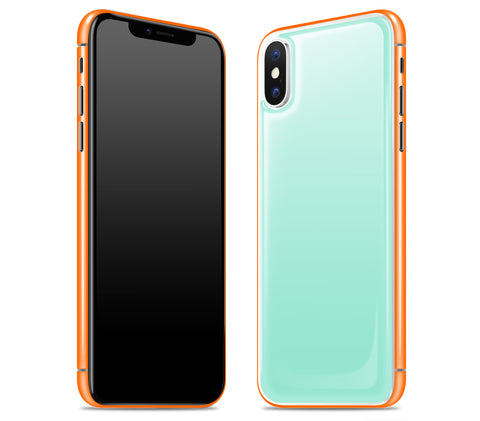 Mint / Neon Orange <br>iPhone X - Glow Gel Combo