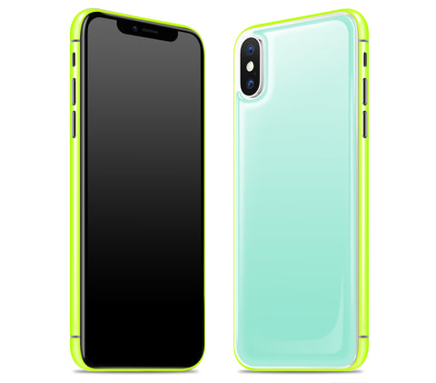 Mint / Neon Yellow <br>iPhone X - Glow Gel Combo