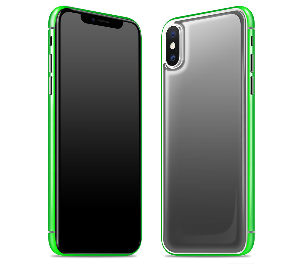 Graphite / Neon Green <br>iPhone X - Glow Gel Combo