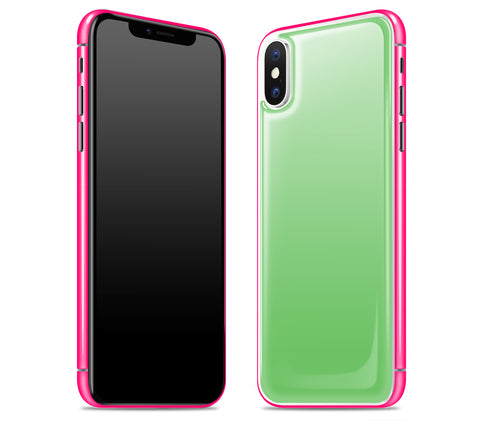 Apple Green / Neon Pink <br>iPhone X - Glow Gel Combo