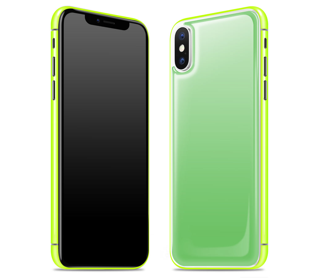 Apple Green / Neon Yellow <br>iPhone X - Glow Gel Combo