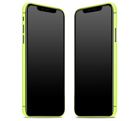 Neon Yellow <br>iPhone X - Rim Skin