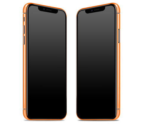 Neon Orange <br>iPhone X - Rim Skin