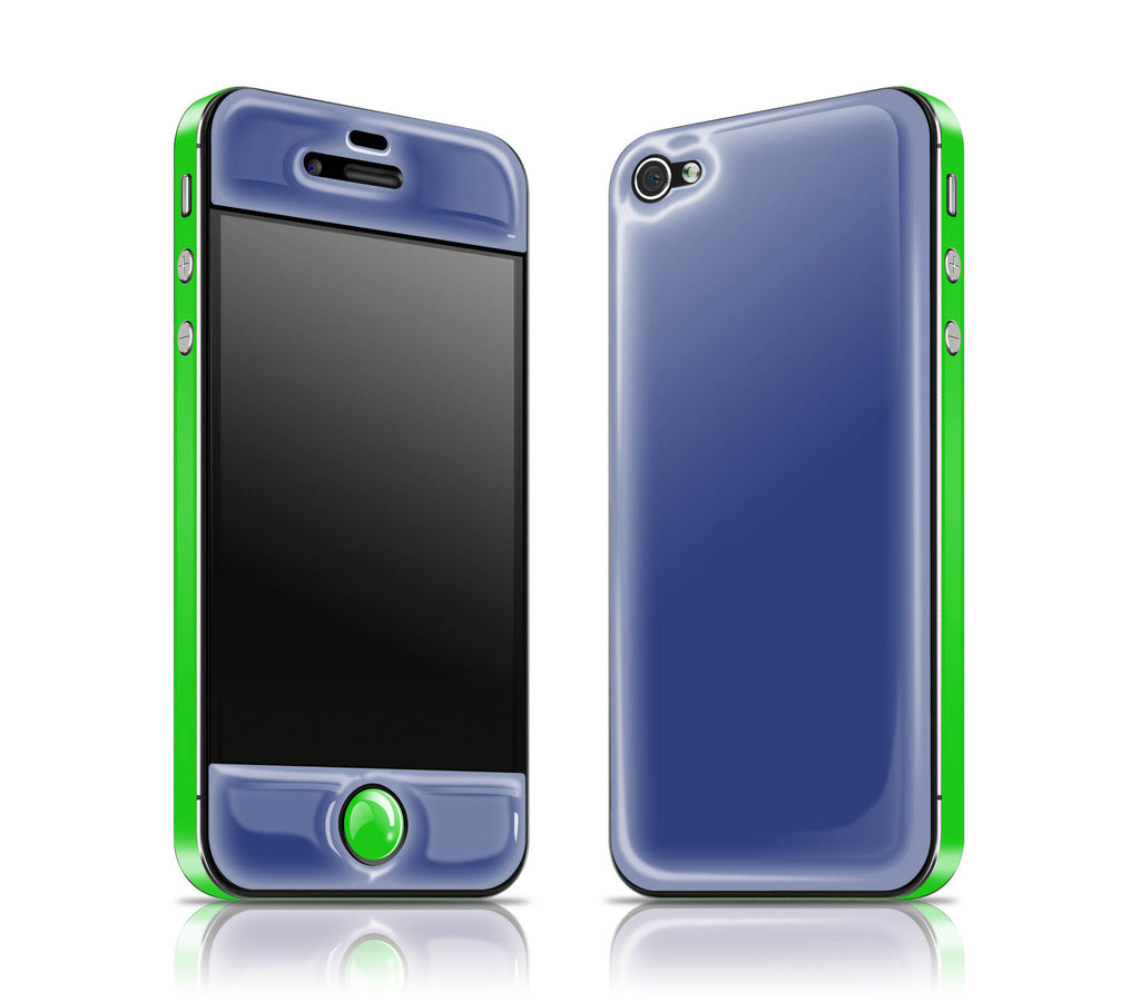 Vintage Navy / Green<br> Glow Gel skin - iPhone 4 / 4s