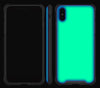 Mint / Neon Red <br>iPhone X - Glow Gel case combo
