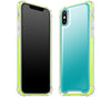 Teal / Neon Yellow <br>iPhone X - Glow Gel case combo