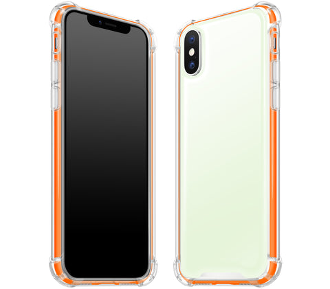 Atomic Ice / Neon Orange <br>iPhone X - Glow Gel case combo