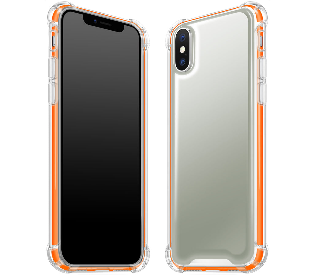 Steel Ash / Neon Orange <br>iPhone X - Glow Gel case combo