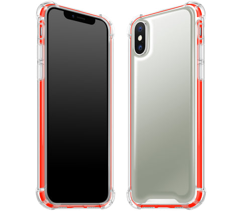 Steel Ash / Neon Red <br>iPhone X - Glow Gel case combo