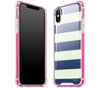 Nautical Striped / Neon Pink <br>iPhone X - Glow Gel case combo