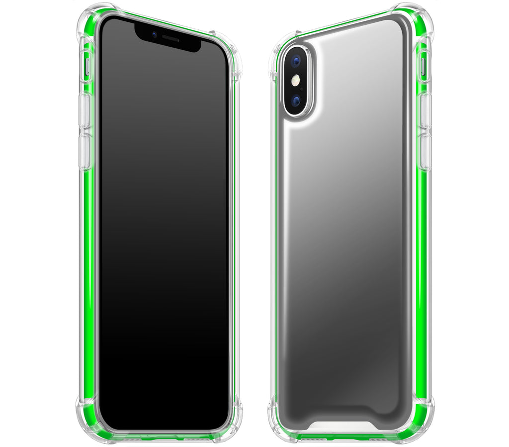 Graphite / Neon Green <br>iPhone X - Glow Gel case combo