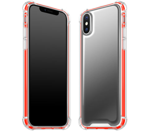 Graphite / Neon Red <br>iPhone X - Glow Gel case combo