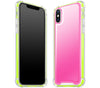 Cotton Candy / Neon Yellow <br>iPhone X - Glow Gel case combo
