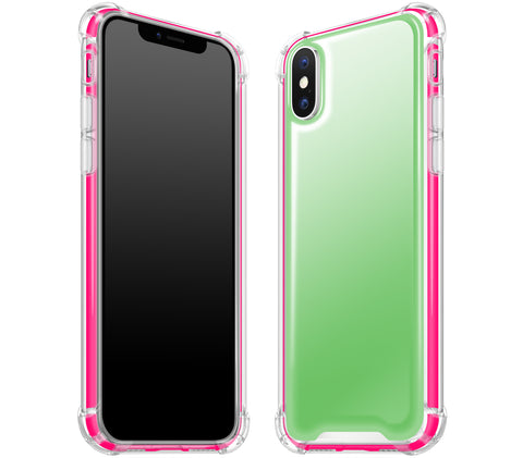 Apple Green / Neon Pink <br>iPhone X - Glow Gel case combo