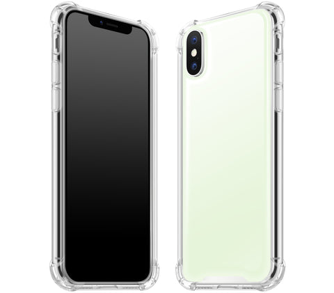 White <br>iPhone X - Glow Gel case