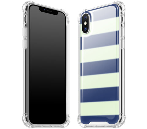 Nautical Striped <br>iPhone X - Glow Gel case
