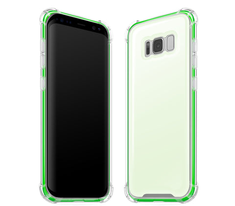 Atomic Ice / Neon Green <br>Samsung S8 - Glow Gel case combo
