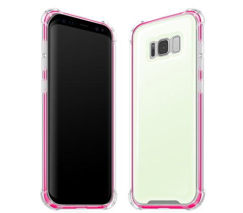 Atomic Ice / Neon Pink <br>Samsung S8 - Glow Gel case combo