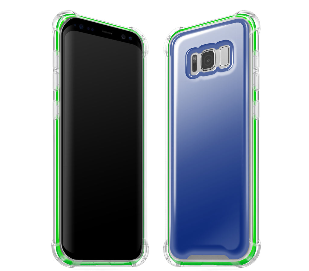 Navy Blue / Neon Green <br>Samsung S8 - Glow Gel case combo