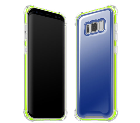 Navy Blue / Neon Yellow <br>Samsung S8 - Glow Gel case combo