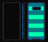 Nautical Striped / Neon Pink <br>Samsung S8 - Glow Gel case combo